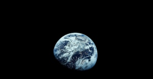 Earth is seen from the Apollo 8 spacecraft in December 1968. (NASA)