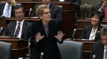Ontario Premier Kathleen Wynne speaks at Queen's Park on Monday, June 10, 2013.