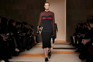 The Victoria Beckham Fall 2016 collection is modeled during Fashion Week in New York, Sunday, Feb. 14, 2016. (AP/Richard Drew)