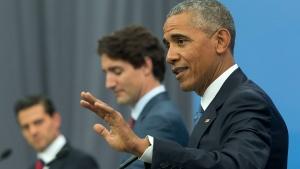 U.S. President Obama addresses Parliament