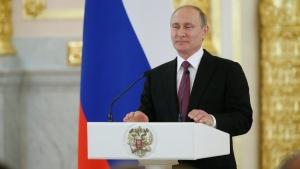 Russian President Vladimir Putin speaks at the Kremlin, in Moscow on July 27, 2016. (Alexander Zemlianichenko / AP)