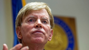 In this July 22, 2016, photo, former Ku Klux Klan leader David Duke talks to the media at the Louisiana Secretary of State's office in Baton Rouge, La. (AP Photo / Max Becherer)