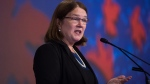 Federal Health Minister Jane Philpott addresses the Canadian Medical Association's General Council 2016, in Vancouver, on Tuesday, Aug. 23, 2016. (Darryl Dyck / THE CANADIAN PRESS)