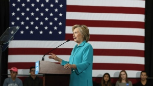 Democratic presidential candidate Hillary Clinton speaks at a campaign event at Truckee Meadows Community College in Reno, Nev. on Thursday, Aug. 25, 2016. (AP / Carolyn Kaster)