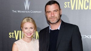 "In this Oct. 6, 2014 file photo, Naomi Watts and Liev Schreiber attend the ""St. Vincent"" premiere in New York. (Photo by Evan Agostini/Invision/AP)"