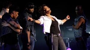 Janet Jackson performs in Johannesburg, on Nov. 11, 2011. (Denis Farrell / AP)