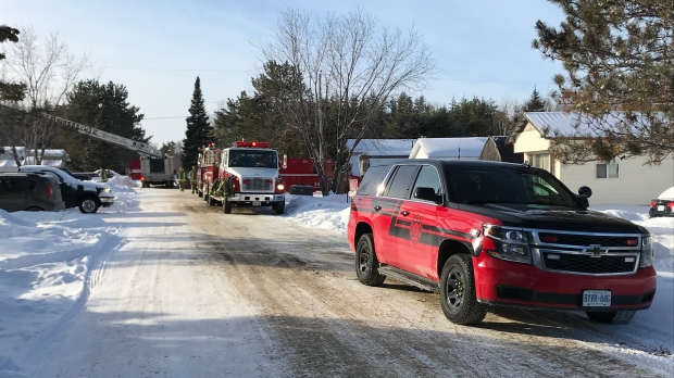 Sudbury fire crews respond to mobile home blaze