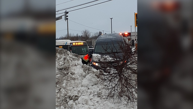 Alleged car thief crashes second vehicle into snow