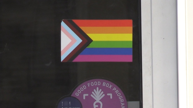 LGBTQ-positive space window sticker