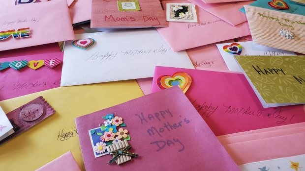 Collecting Mother's Day Cards