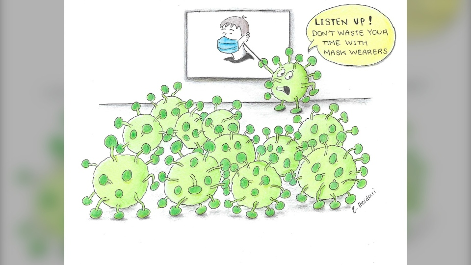Novel coronavirus cartoon