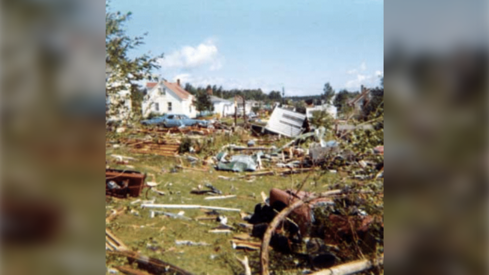 Trail of destruction left by Sudbury tornado