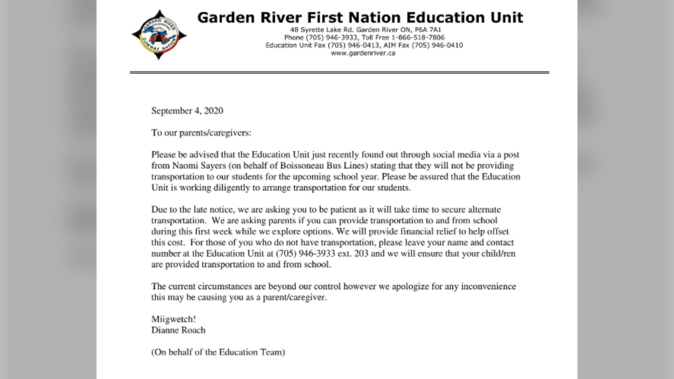 grand river first nation letter