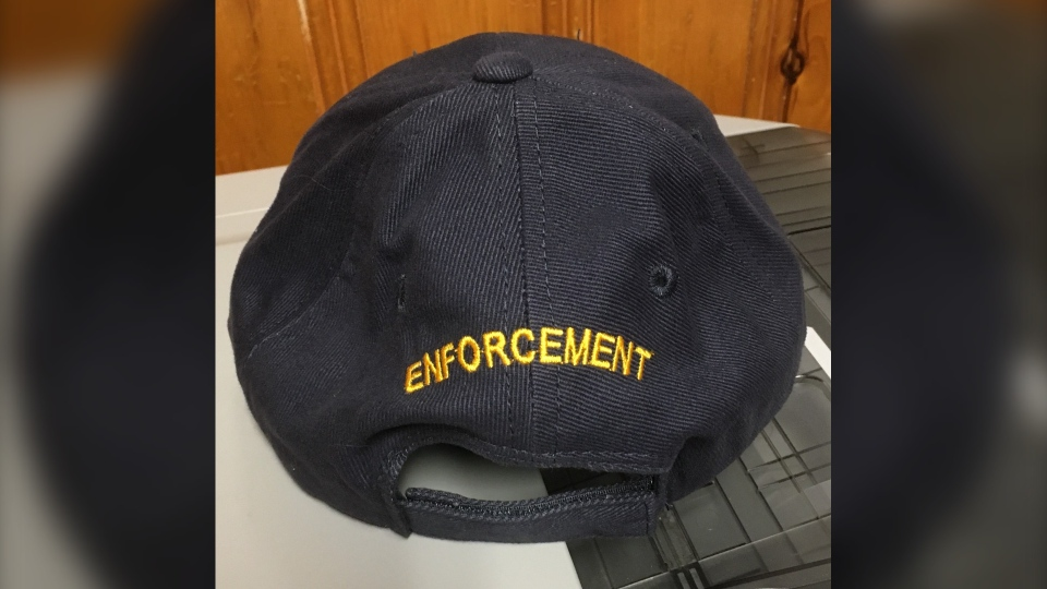 Back of stolen Ontario Parks hat