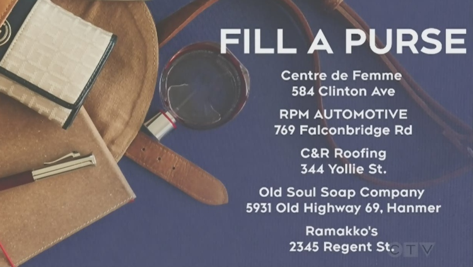 Drop off locations for Fill a Purse for a Sister