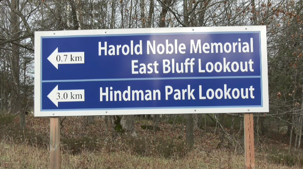 Hindman Trail sign