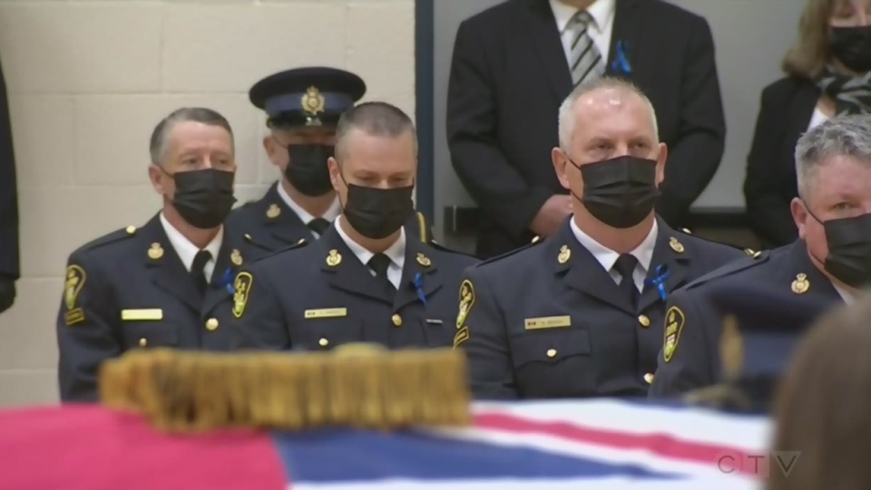 OPP colleagues mourn at Const. Marc Hovingh's fune